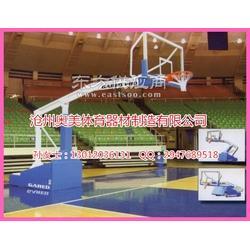 单臂篮球架安装图、电动篮球架厂家图片