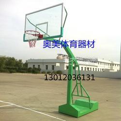 学校篮球架安装图,钢化玻璃篮板厂家图片