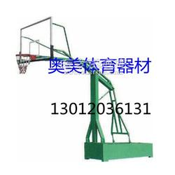 透明篮板篮球架安装图,平箱仿液压篮球架生产厂家图片