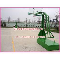 篮球架篮筐安装图,仿液压篮球架生产厂家图片