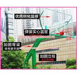 中小学移动篮球架介绍,24秒液压篮球架效果图图片