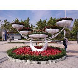 鸿恒远景已认证花坛造型、五色草花坛造型图片