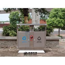 长沙机场商场不锈钢垃圾桶定制-不锈钢垃圾桶-长沙尚绿环保图片