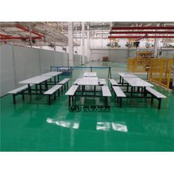 餐桌椅-长沙尚绿环保-株洲学校食堂不锈钢连体餐桌椅图片
