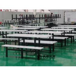 湘西学校食堂玻璃钢餐桌椅、餐桌椅、长沙尚绿环保(查看)图片