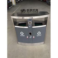 不锈钢垃圾桶-长沙尚绿环保-机场不锈钢垃圾桶哪里找图片