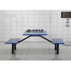 食堂餐桌椅-长沙尚绿环保-工地食堂餐桌椅图片