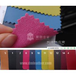 纳帕纹超纤皮仿真皮超纤皮革0.8mm 彩底图片