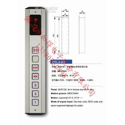 电梯配件 电梯单速箱 DSL3-B3 古铜色铝合金面板 杂物梯呼梯盒图片