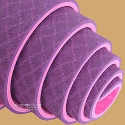 环保防滑双色TPE瑜伽垫 室内瑜伽运动健身垫tpe 女神级瑜伽垫tpe图片