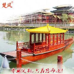 供应玻璃钢餐饮画舫船出售定制图片