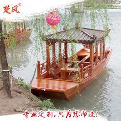 供应木质旅游观光画舫脚踏手划船图片