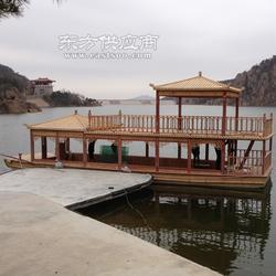 楚风木船双层全景观光拍摄画舫木船 大型景区定做图片