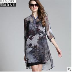 哪里的大码女装好看_天津大码女装_石岩纤衣图片