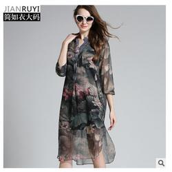 深圳大码女装,胖MM大码女装一件多少钱,纤衣图片