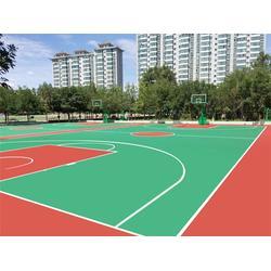 上海硅PU球场|广州帝森(在线咨询)|新国标硅PU球场材料图片