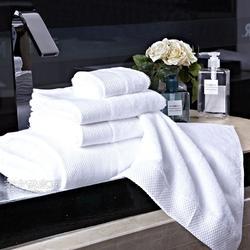 帛韩16支螺旋缎档浴巾 酒店宾馆美容院SPA纯白浴巾可订制尺寸logo图片