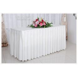 帛韩酒店餐厅台布桌布涤纶耐用会议宴会台裙桌罩订制尺寸图片