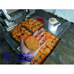 全自动肉饼油炸机厂家、钢城区肉饼油炸机、诸城有为机械(查看)图片