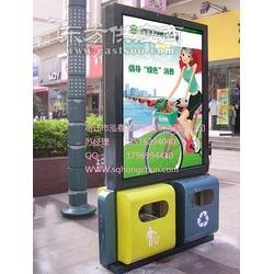 果皮箱广告垃圾箱泓春灯箱制造图片