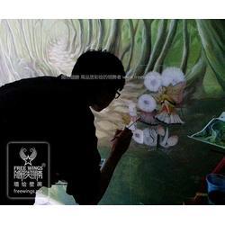 武汉壁画、南京隐形翅膀艺术公司、3d大型壁画图片
