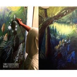 南京隐形翅膀艺术设计,家居壁画,壁画图片