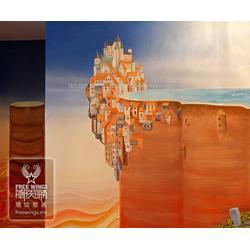 卡通墙绘,墙绘,南京隐形翅膀艺术公司(查看)图片