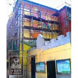 卡通墙绘 南京隐形翅膀艺术中心 墙绘图片