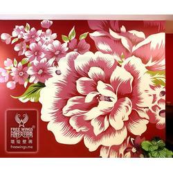 上海墙绘-南京隐形翅膀设计中心-创意客厅墙绘图片
