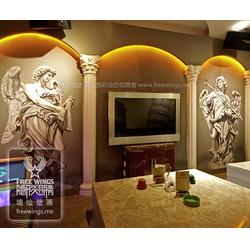 盐城彩绘-南京隐形翅膀设计中心-墙面彩绘图片