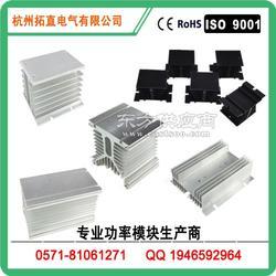 功率模块专用铝材散热器 HS40200 高效散热氧化黑色 拓直电气图片