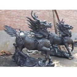 卫恒铜雕厂家、巴中铜麒麟、送子铜麒麟生产厂家图片