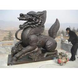保定铜麒麟、卫恒铜雕(在线咨询)、送子铜麒麟铸造厂图片