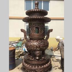 卫恒铜雕(图) 双层顶子铸铁香炉 香炉图片