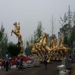 钦州铜马|来图订做(优质商家)|大型阿波罗纯铜马战车图片