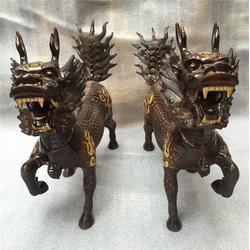 海口铜麒麟、独角兽铜麒麟生产厂家、卫恒铜雕厂家(多图)图片