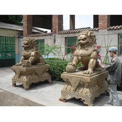衛恒銅雕廠家,寶坻銅制獅子,登繡球銅制獅子鑄造廠圖片