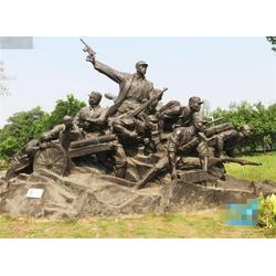 卫恒铜雕厂家,云浮抗战人物,抗战人物铜浮雕题材图片