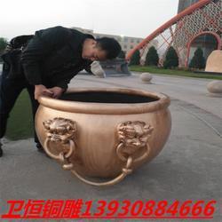 衛恒銅雕廠家_隨州銅大缸_銅大缸的擺放寓意圖片