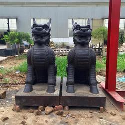 两米高铜麒麟定制 北海铜麒麟 卫恒铜雕厂家(查看)图片