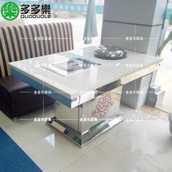 蒸汽海鲜火锅桌设备石锅鱼餐桌定做图片