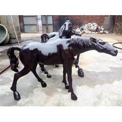 銅馬奔騰雕塑-江蘇銅馬-銅雕工藝品廠圖片