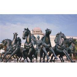 铸铜马雕塑厂家,河北铜马,鼎丰铜工艺品厂图片