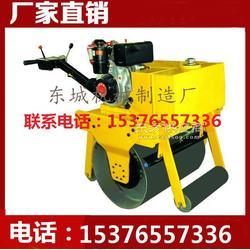 现货供应高品质压路机 手扶式单轮压路机 轻型震动压路机 效率高图片