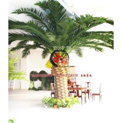 仿真棕榈树 盆景多少钱 仿真棕榈树 厂家销售 人造大型 棕榈树叶芭蕉叶图片