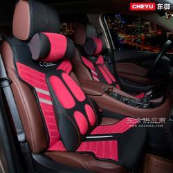新款全包围皮冰丝汽车坐垫 四季通用夏季高档座垫座套图片