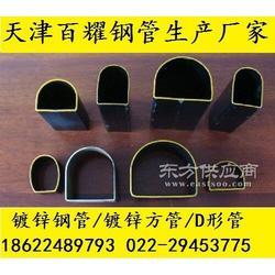 半圆形管尺寸、黑退半圆管厂图片