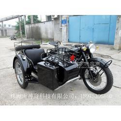 长江750边三轮摩托车黑色亮光改装款图片
