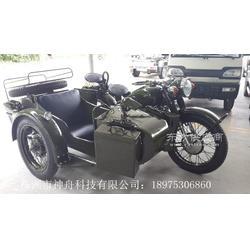 长江750边三轮摩托车军绿色亮光图片