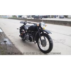 长江750边三轮摩托车黑色哑光单机图片